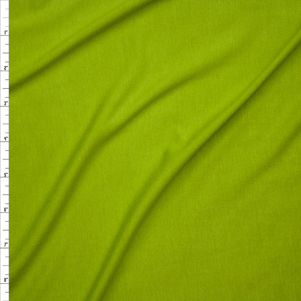 Lime Green Lightweight 4-way Stretch Rayon Lycra Jersey Knit Fabric By The Yard