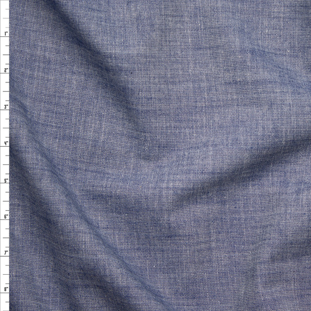 Indigo 'Folsom Crosshatch Denim' by Robert Kaufman Fabric By The Yard