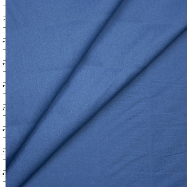Slate Blue Stretch Cotton Broadcloth Fabric By The Yard