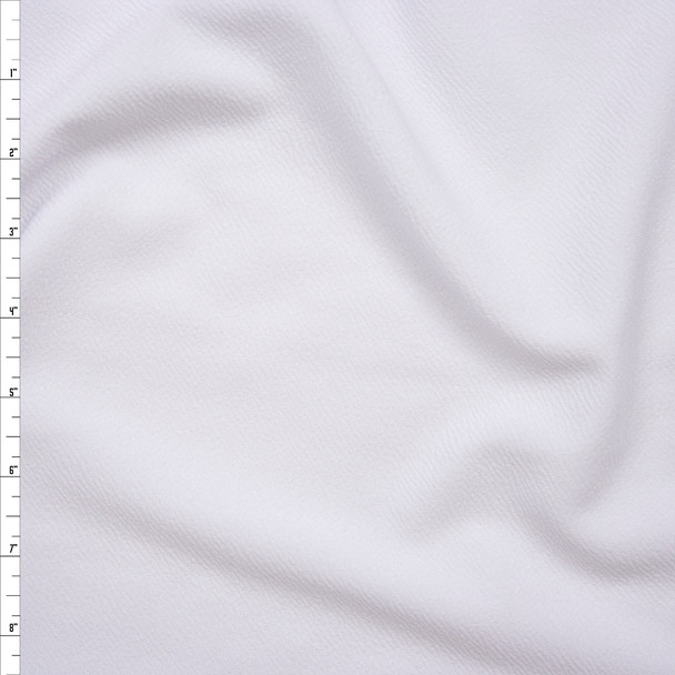 White Crepe Textured Liverpool Knit Fabric By The Yard