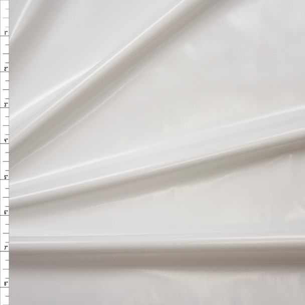 Premium Gloss White Lycra Lame Fabric By The Yard