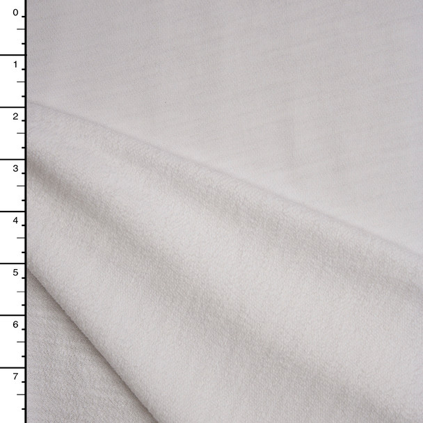 White Slubbed French Terry Fabric By The Yard