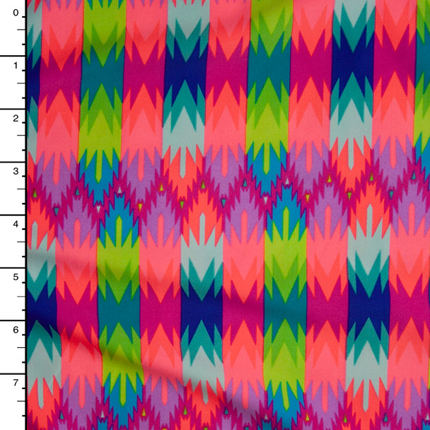 Neon Abstract Pattern Nylon/Lycra Fabric By The Yard