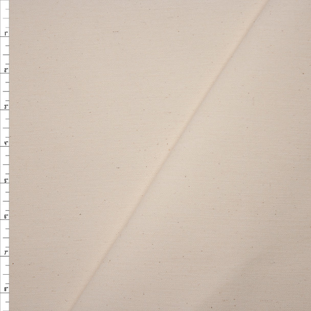 Natural Ivory Stretch Twill Fabric By The Yard