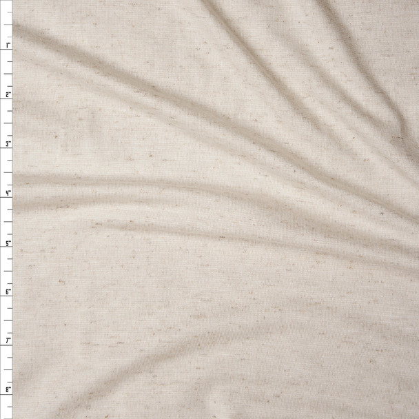 Natural Slubbed Ivory Stretch Rayon Jersey Knit Fabric By The Yard