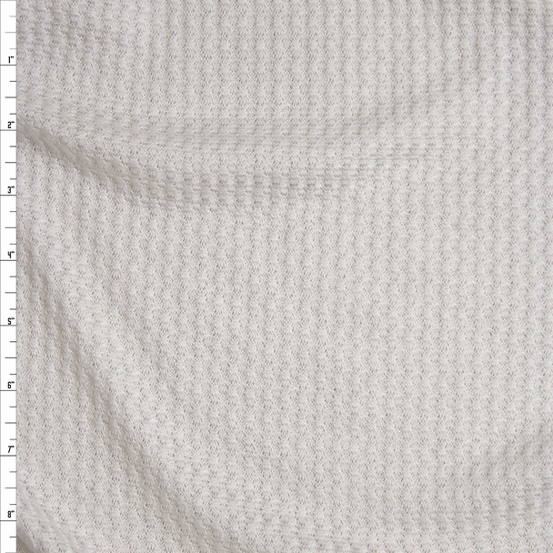 Warm White Soft Waffle Knit Fabric By The Yard