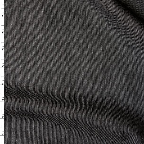 Black Midweight Tencel Denim Fabric By The Yard