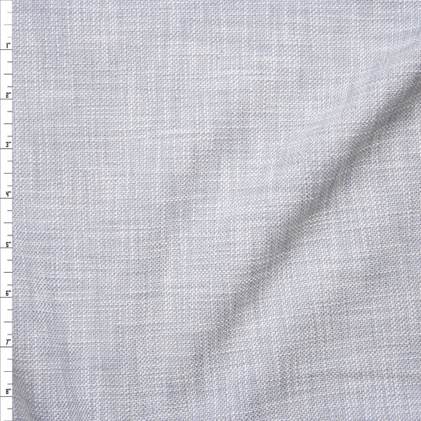 Pale Blue Textured Midweight Linen Look Suiting from 'Rebecca Taylor' Fabric By The Yard