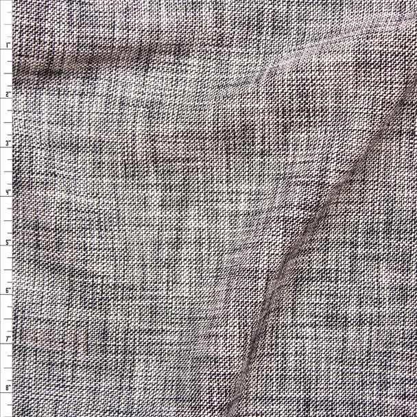 Black and White Textured Midweight Linen Look Suiting from 'Rebecca Taylor' Fabric By The Yard