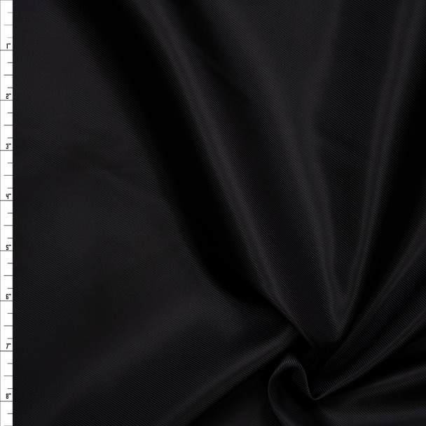Black Diagonal Weave Poly Lining Fabric By The Yard