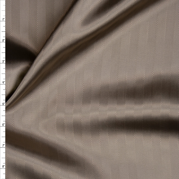 Tan Herringbone Poly Lining Fabric By The Yard