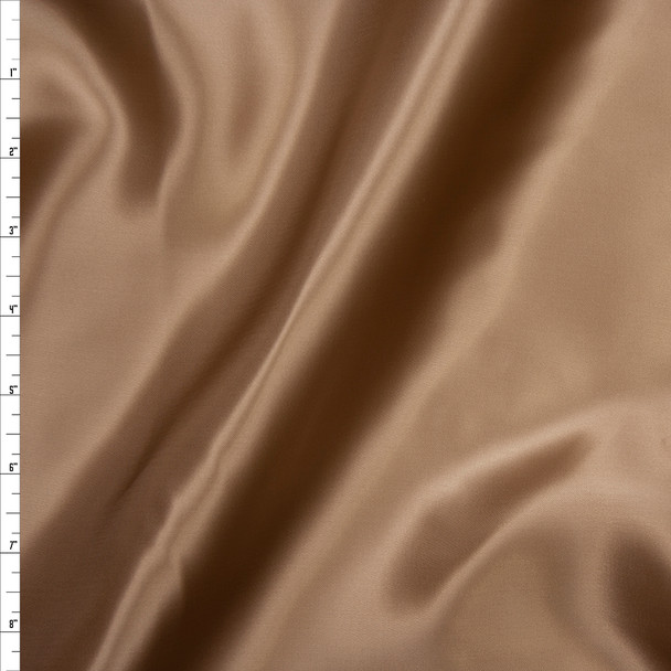 Dark Khaki Rayon Lining Fabric By The Yard