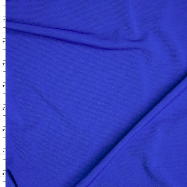 Royal Blue Stretch Polyester Jersey Knit Fabric By The Yard