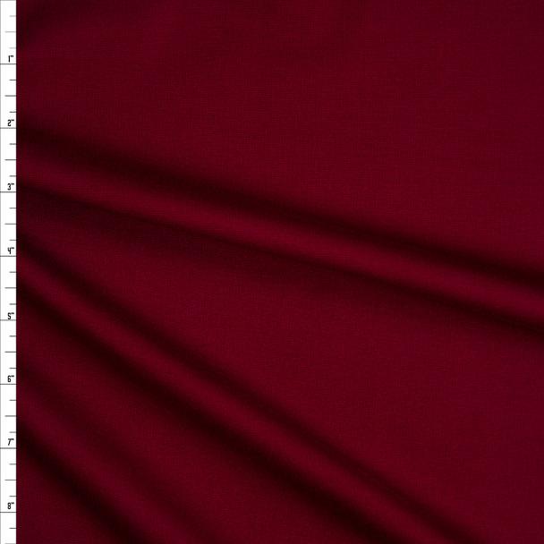 Cranberry Heavyweight Stretch Ponte De Roma Fabric By The Yard