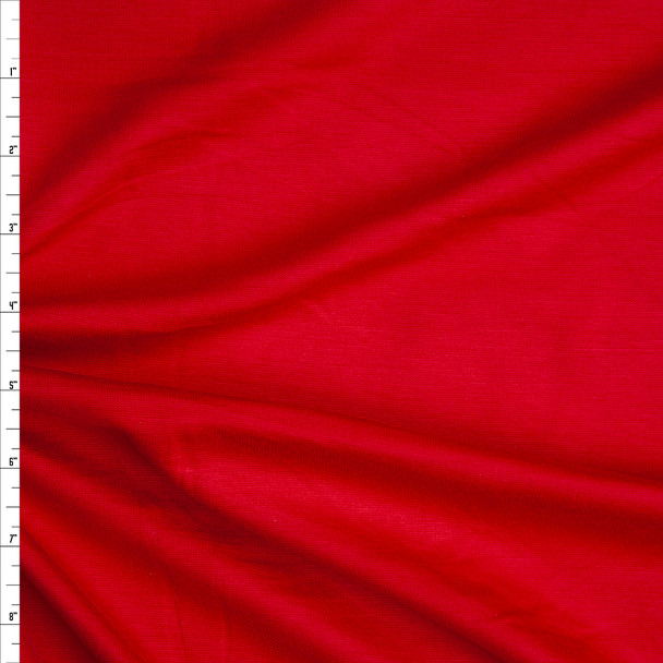 Red Heavyweight Stretch Ponte De Roma Fabric By The Yard
