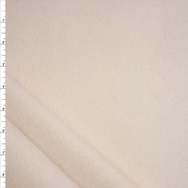 Natural Ivory Heavyweight Wool Felt Fabric By The Yard