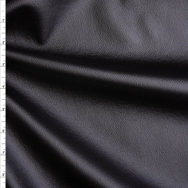 Black Pebbled Stretch Pleather Liverpool Knit Fabric By The Yard