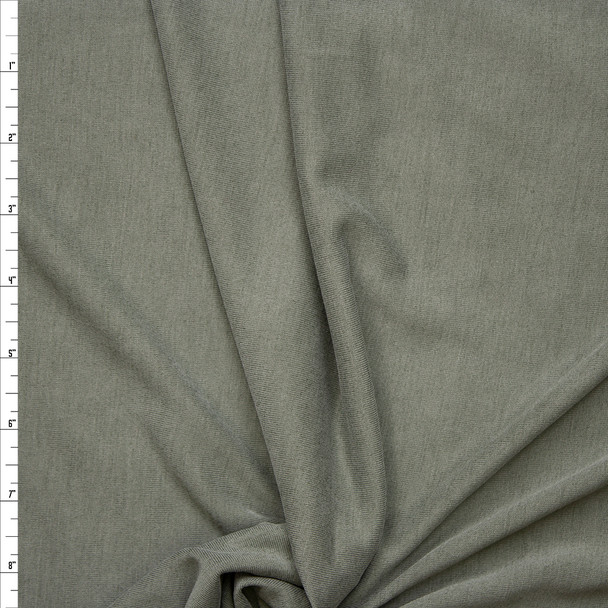 Olive Green Brushed Poly/Modal Jersey Knit Fabric By The Yard