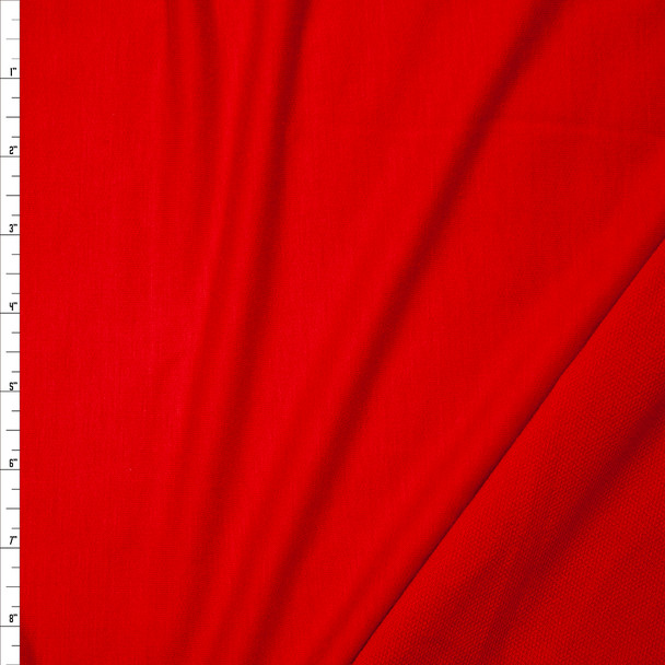 Red Lightweight Poly/Rayon French Terry Fabric By The Yard