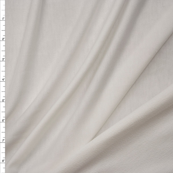 White Lightweight Poly/Rayon French Terry Fabric By The Yard