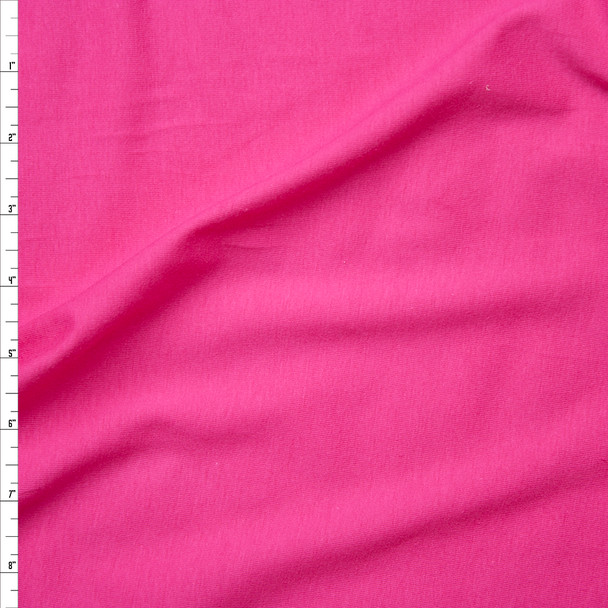 Hot Pink Light Midweight Stretch Cotton Jersey Knit Fabric By The Yard