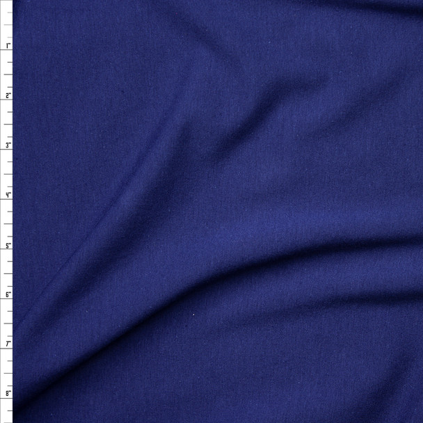 Navy Blue Light Midweight Stretch Cotton Jersey Knit Fabric By The Yard
