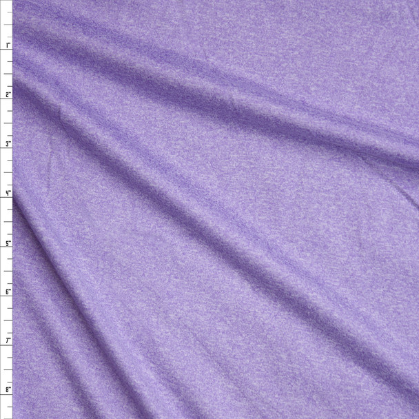 Lavender Heather Double Brushed Poly Spandex Fabric By The Yard