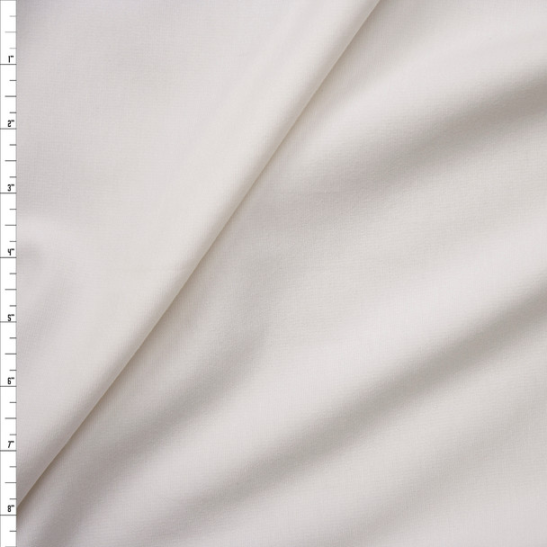 White Heavyweight Stretch Ponte De Roma Fabric By The Yard