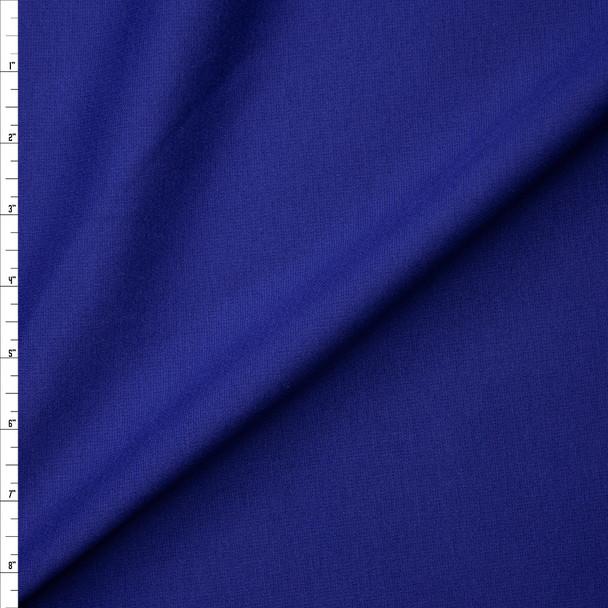 Deep Royal Blue Heavyweight Stretch Ponte De Roma Fabric By The Yard