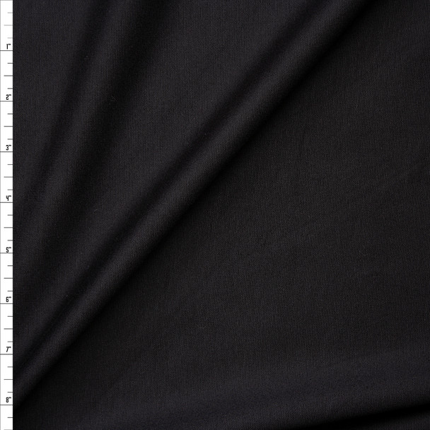 Black Heavyweight Stretch Ponte De Roma Fabric By The Yard