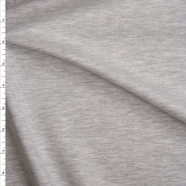 Light Grey Heather Soft Midweight Stretch Ponte De Roma Fabric By The Yard