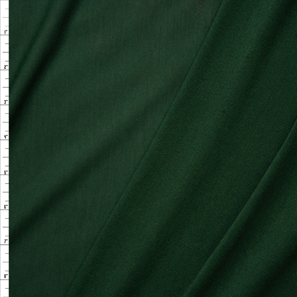 Hunter Green Lightweight Poly/Rayon French Terry Fabric By The Yard