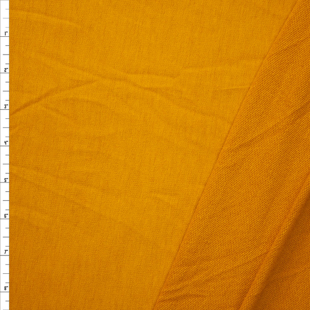 Mustard Lightweight Poly/Rayon French Terry Fabric By The Yard
