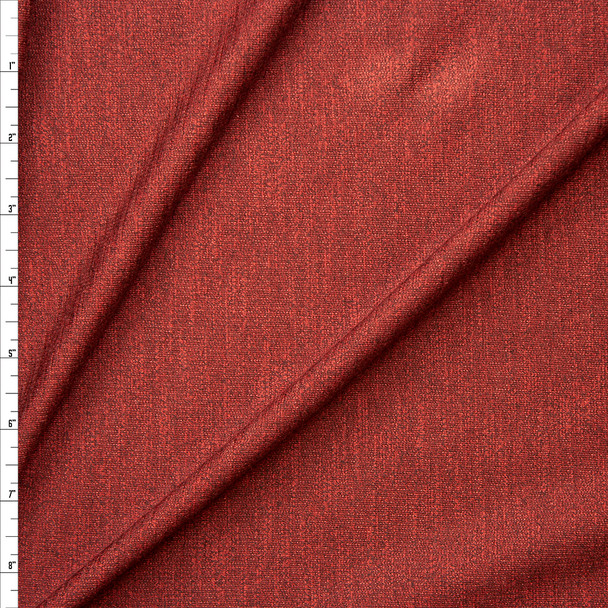 Rust Heather Soft Stretch French Terry Fabric By The Yard