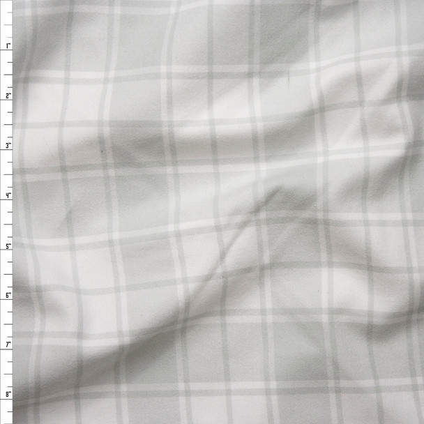 Grey and White Plaid Cotton Flannel from 'Robert Kaufman' Fabric By The Yard