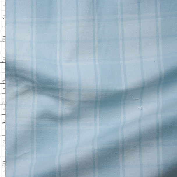 Light Blue and White Plaid Cotton Flannel from 'Robert Kaufman' Fabric By The Yard