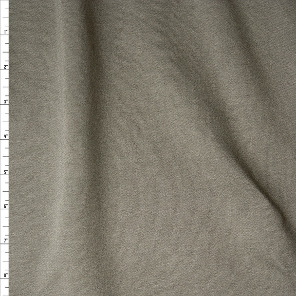 Soft Olive Green Stretch Sweatshirt Fleece from 'Generation Love' Fabric By The Yard