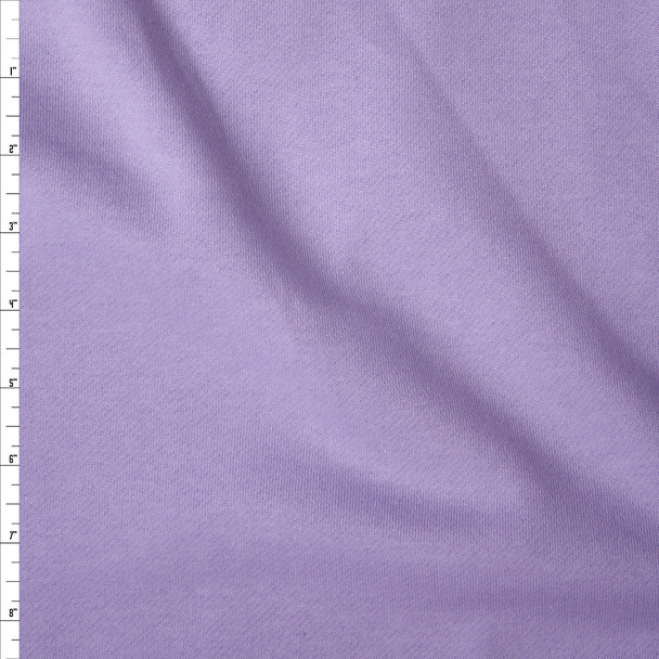 Lavender Sweatshirt Fleece Fabric By The Yard