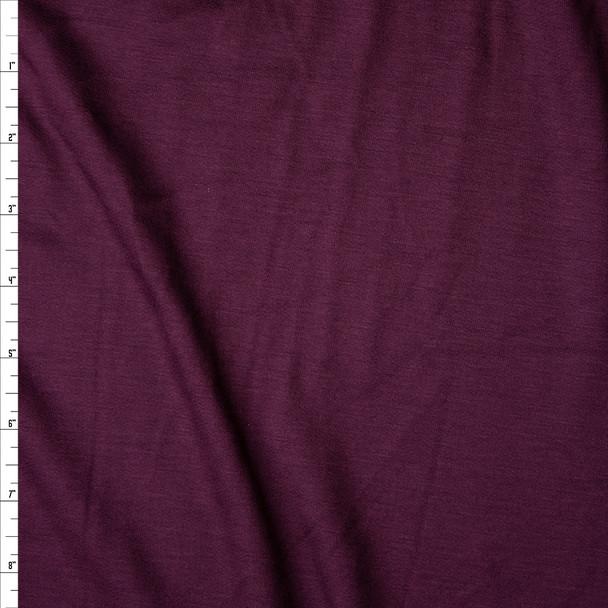 Plum Lightweight Sweatshirt Fleece Fabric By The Yard