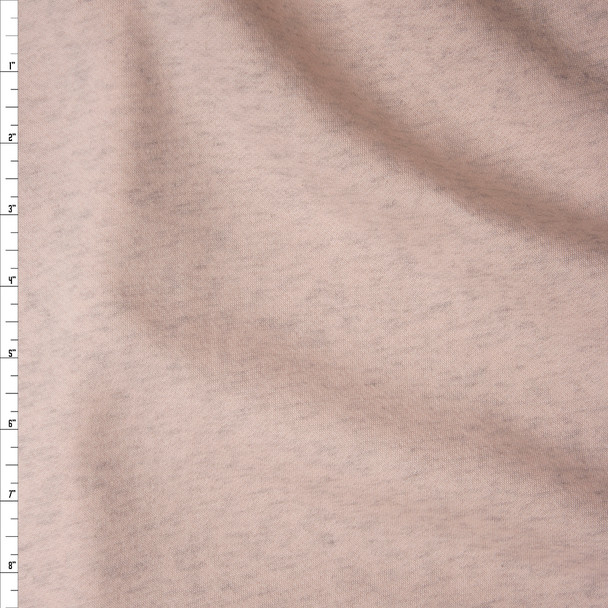 Pale Pink Heather Sweatshirt Fleece from 'Generation Love' Fabric By The Yard