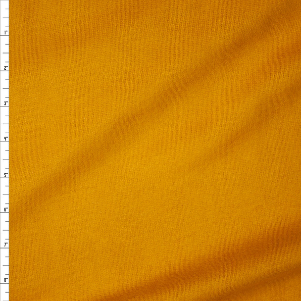 Mustard Yellow Sweatshirt Fleece Fabric By The Yard