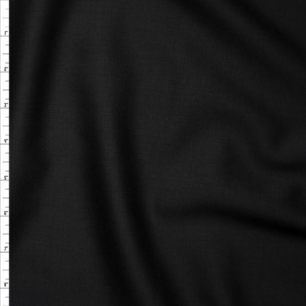 Black Italian Tuxedo Wool Fabric By The Yard