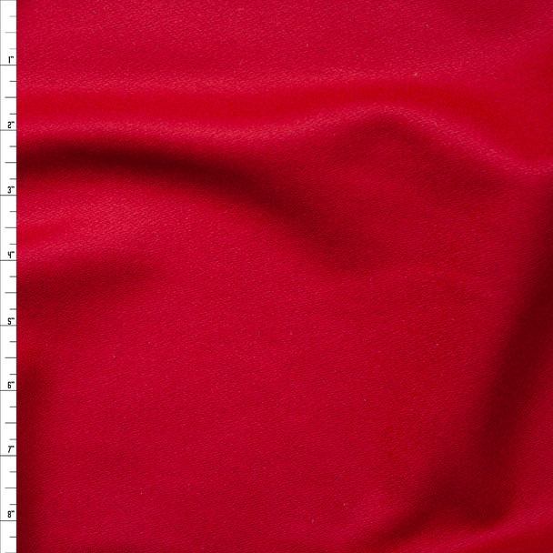 Cherry Red Solid Wool Coating Fabric By The Yard