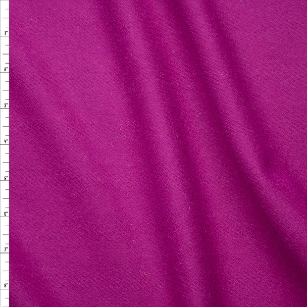 Hot Pink Solid Wool Coating Fabric By The Yard