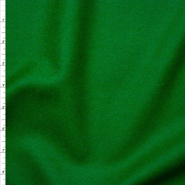 Kelly Green Solid Wool Coating Fabric By The Yard