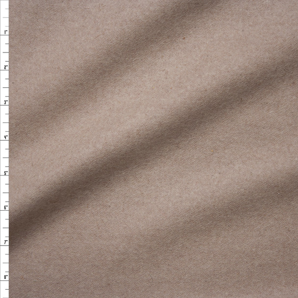 Light Tan Solid Wool Coating Fabric By The Yard