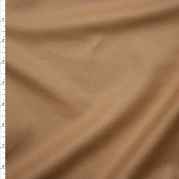 Tan Solid Wool Coating Fabric By The Yard