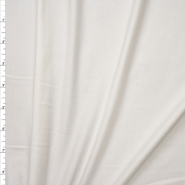 White Modal Stretch Jersey Knit Fabric By The Yard