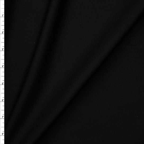 Black Heavy Midweight Stretch Ponte  Fabric By The Yard
