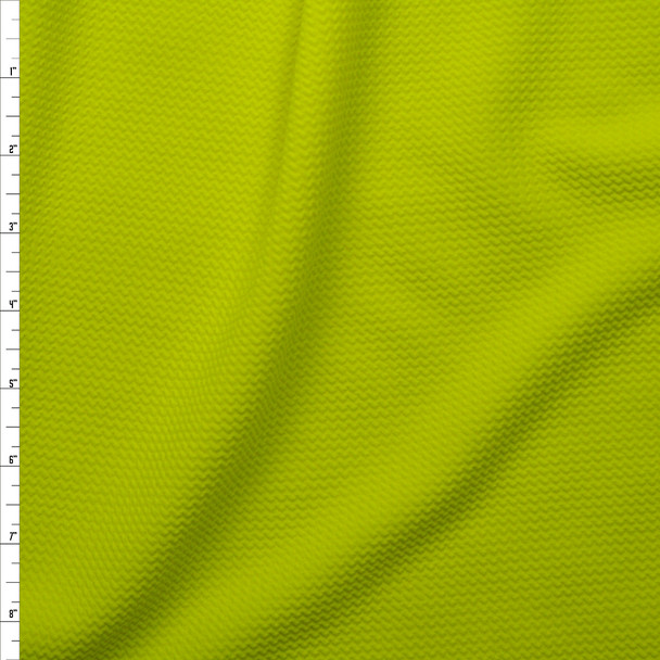 Neon Yellow Solid Braided Look Liverpool Knit Fabric By The Yard